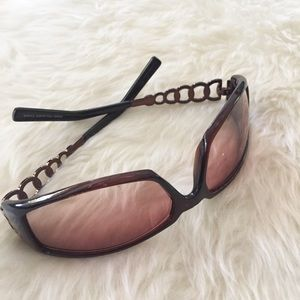 Accessories - Brown Ring Frame Sunglasses